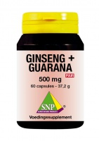 Ginseng + Guarana  500 mg Puur