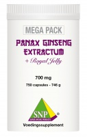 Panax Ginseng +Royal Jelly+Guarana+Chlorella 750 caps MEGA PACK