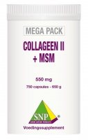 Collageen II + MSM - 550 mg          - 750 capsules  MEGA PACK