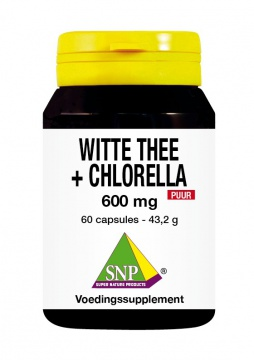 Witte Thee + Chlorella 600 mg Puur
